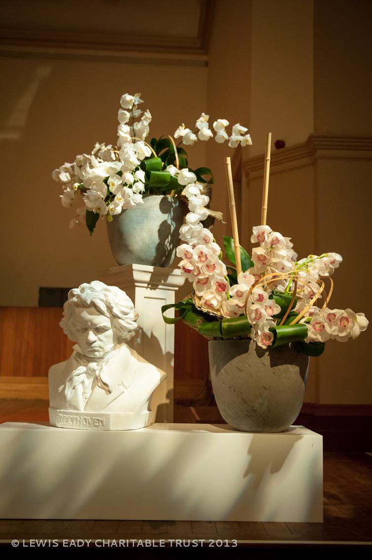 Stage flowers by Annie O