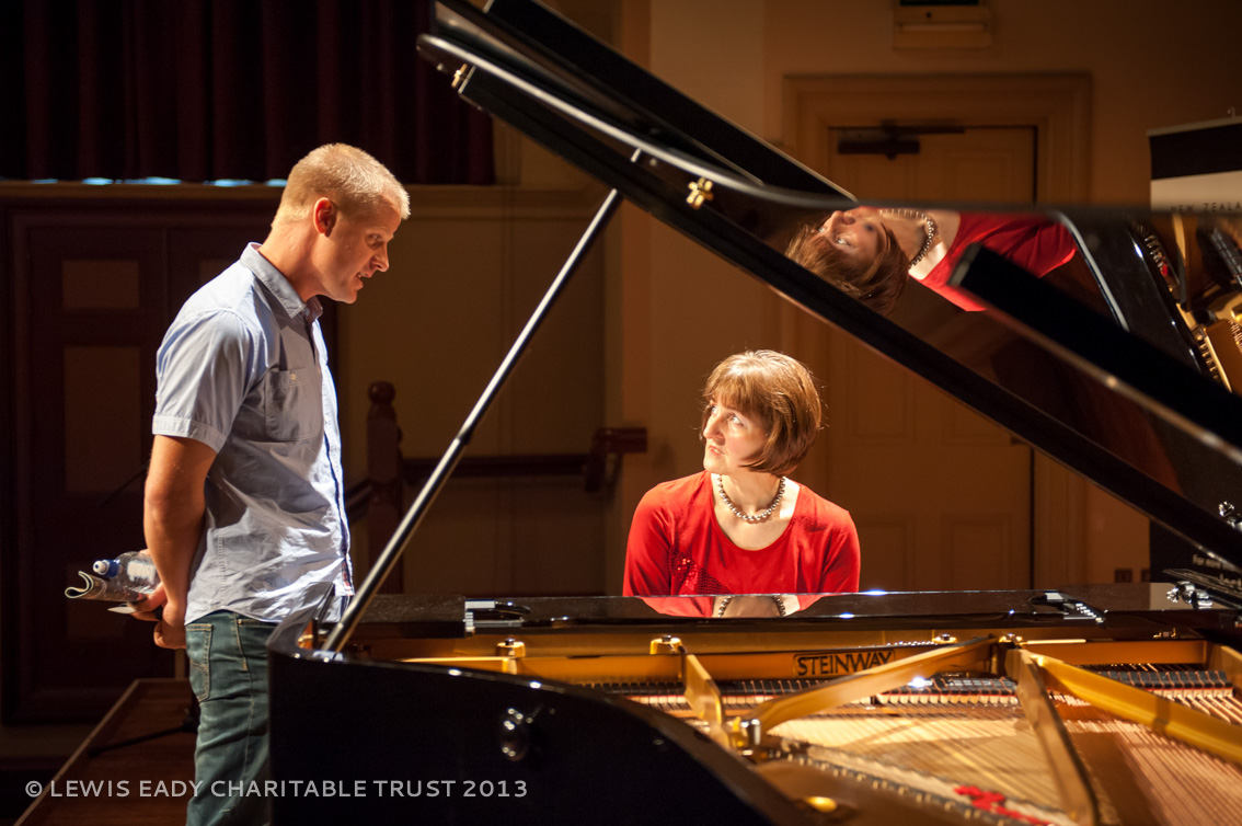 Konstanze Eickhorst - with piano tuner, Anthony Shaw