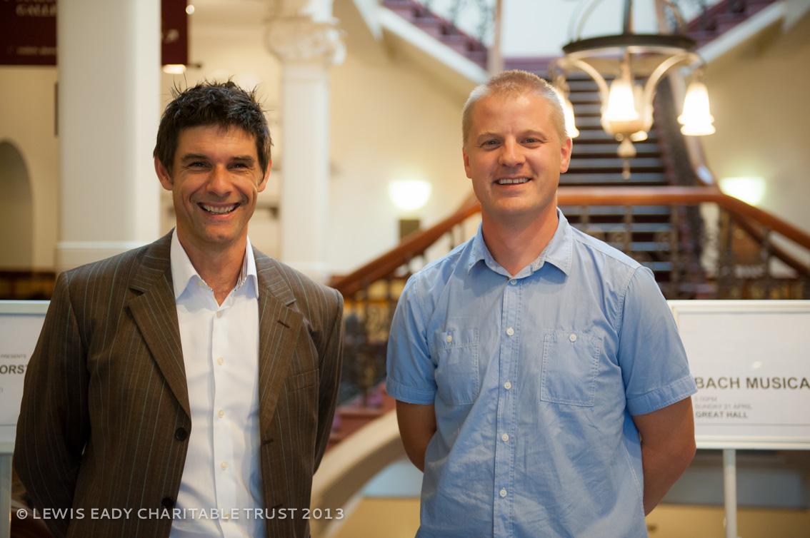 John Eady (NZIPF Chair) with Anthony Shaw (Piano Tuner)