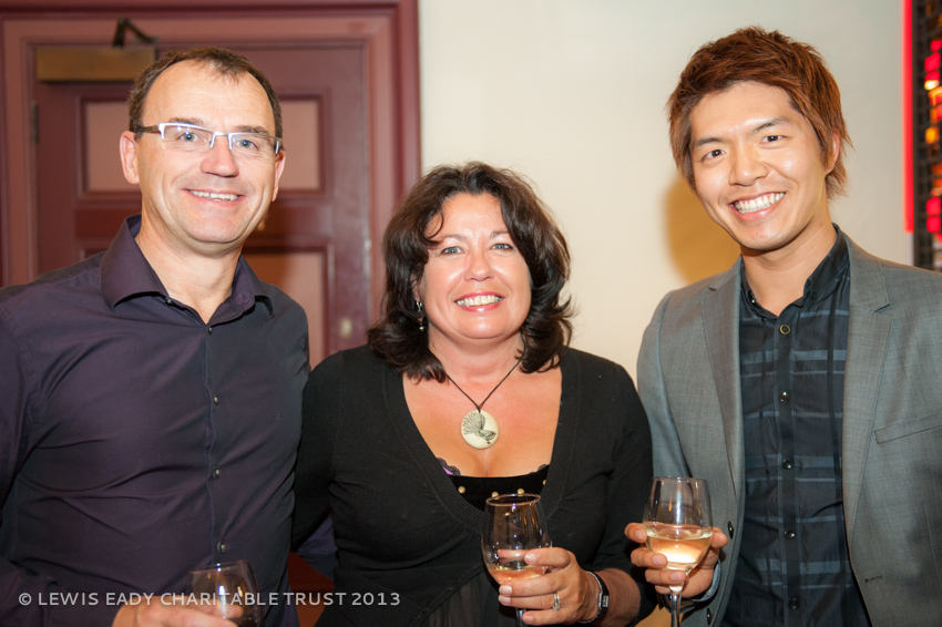 Tim & Wendy Bluett with Evans Chuang