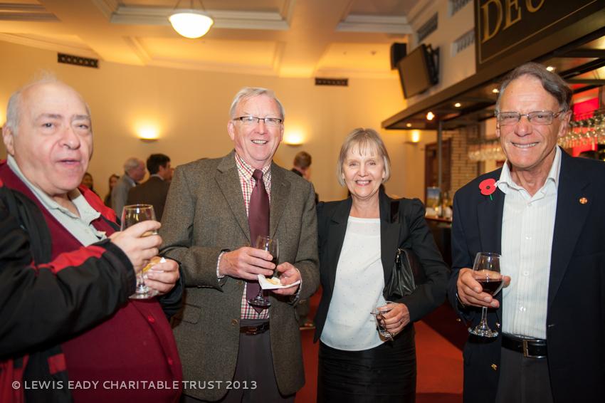 Prof Heath Lees with his wife Liza, John Eady & friend