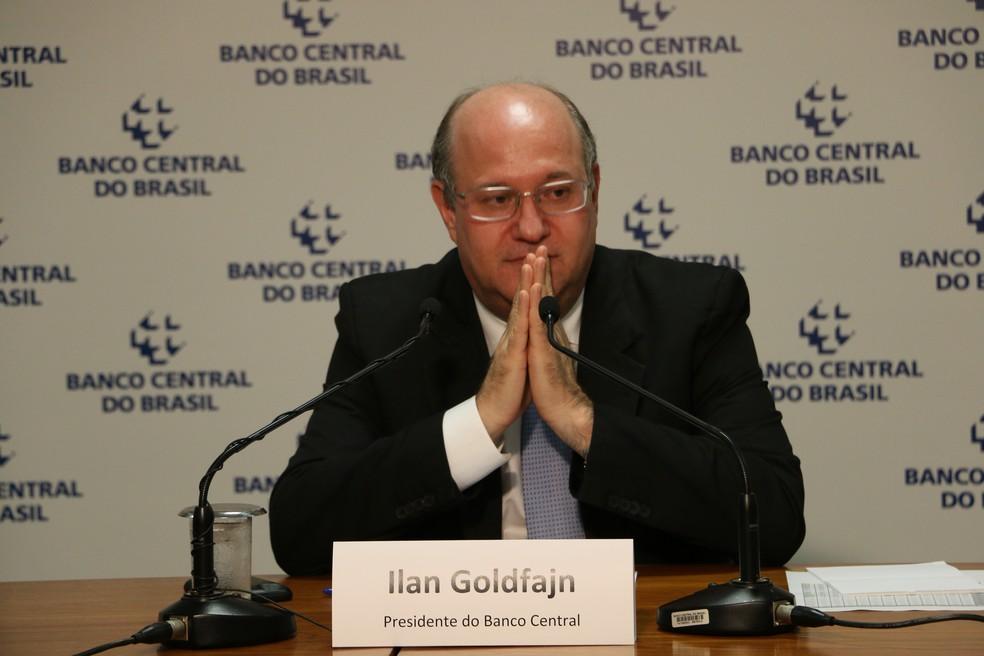 O presidente do Banco Central, Ilan Goldfajn, em entrevista coletiva. (Foto: Alvaro Costa)