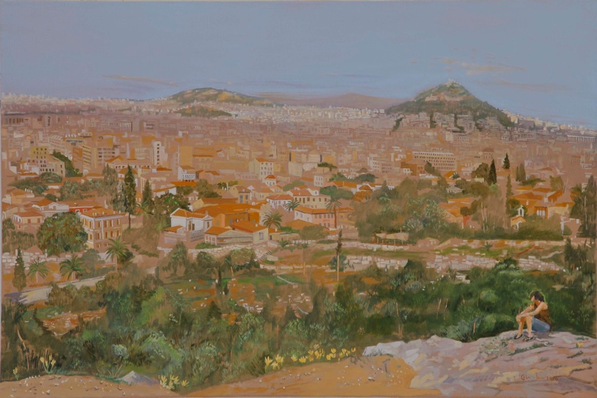 contemplating athens  2010  oil on linen