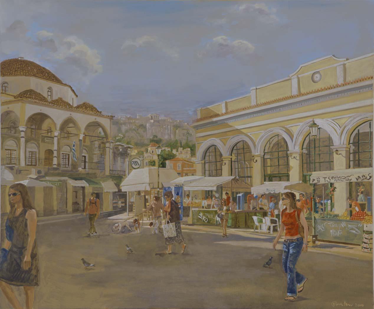 monastiraki  2010  oil on canvas