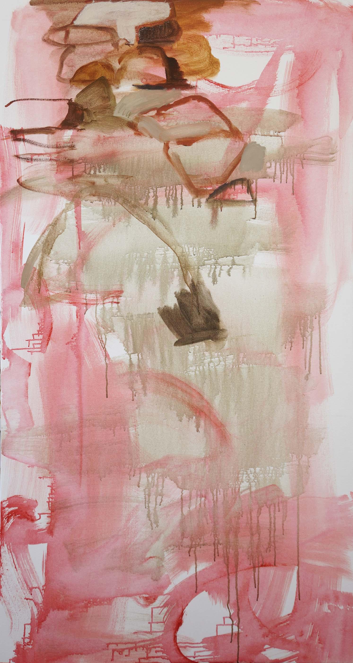 "pink creek  72x38""  stage 1"