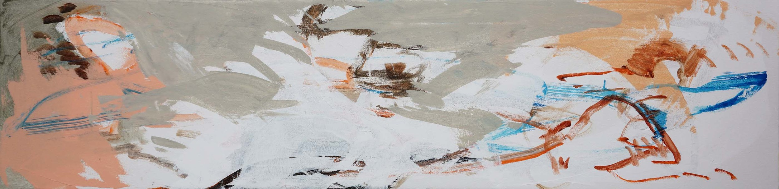 "stage 3:  ni zan creek  16x66""  acrylic on canvas"
