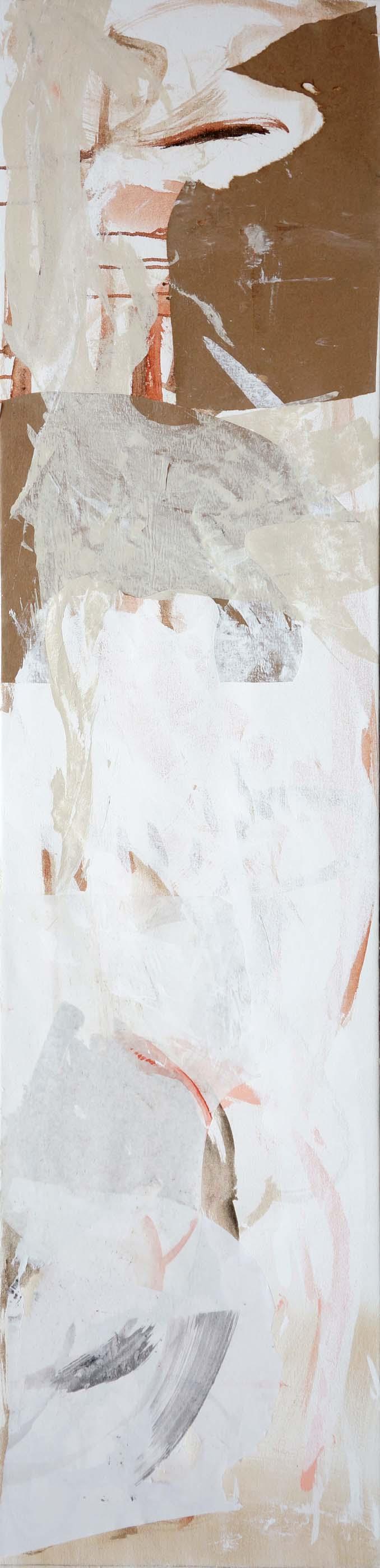 "wu zhen creek  66x16""  acrylic & collaged paper on canvas"