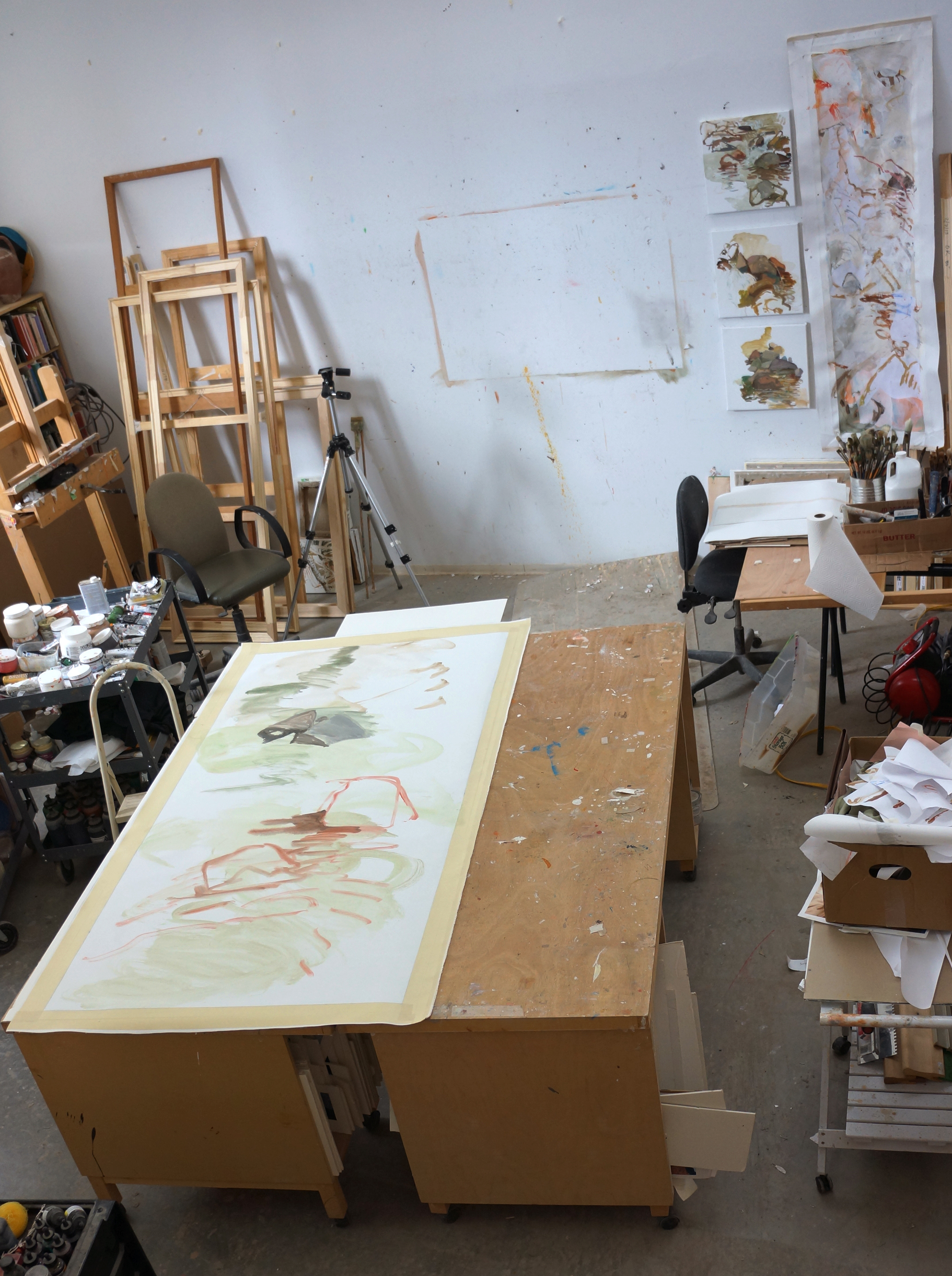"day 1:  wang meng creek    78x38"" acrylic on canvas"