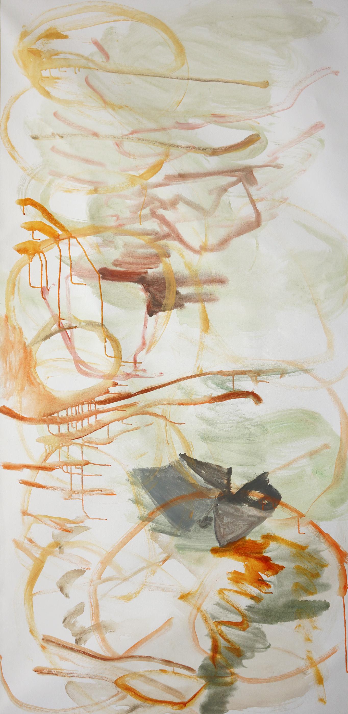 "wang meng creek  78x38""  DAY 2, acrylic on canvas"