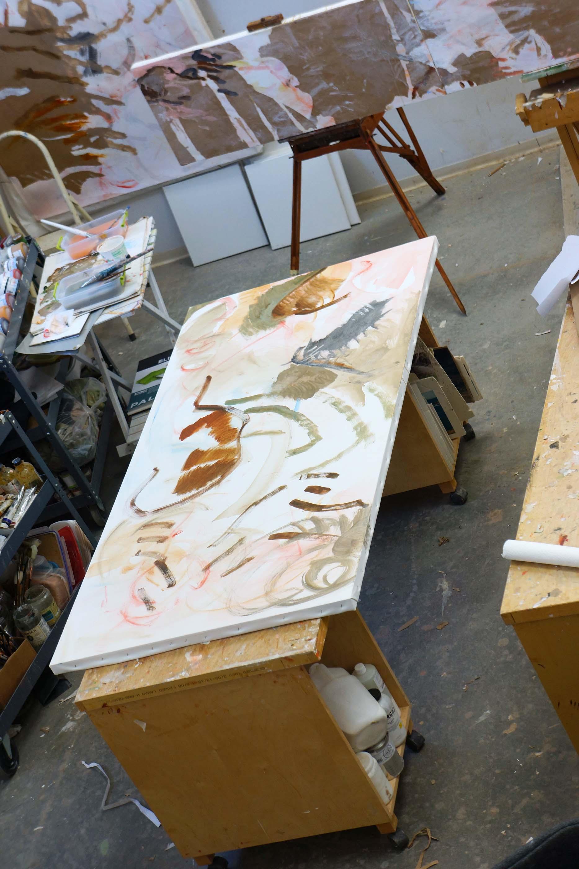 "DAY 1:  zheng creek  72x38""  acrylic on canvas"