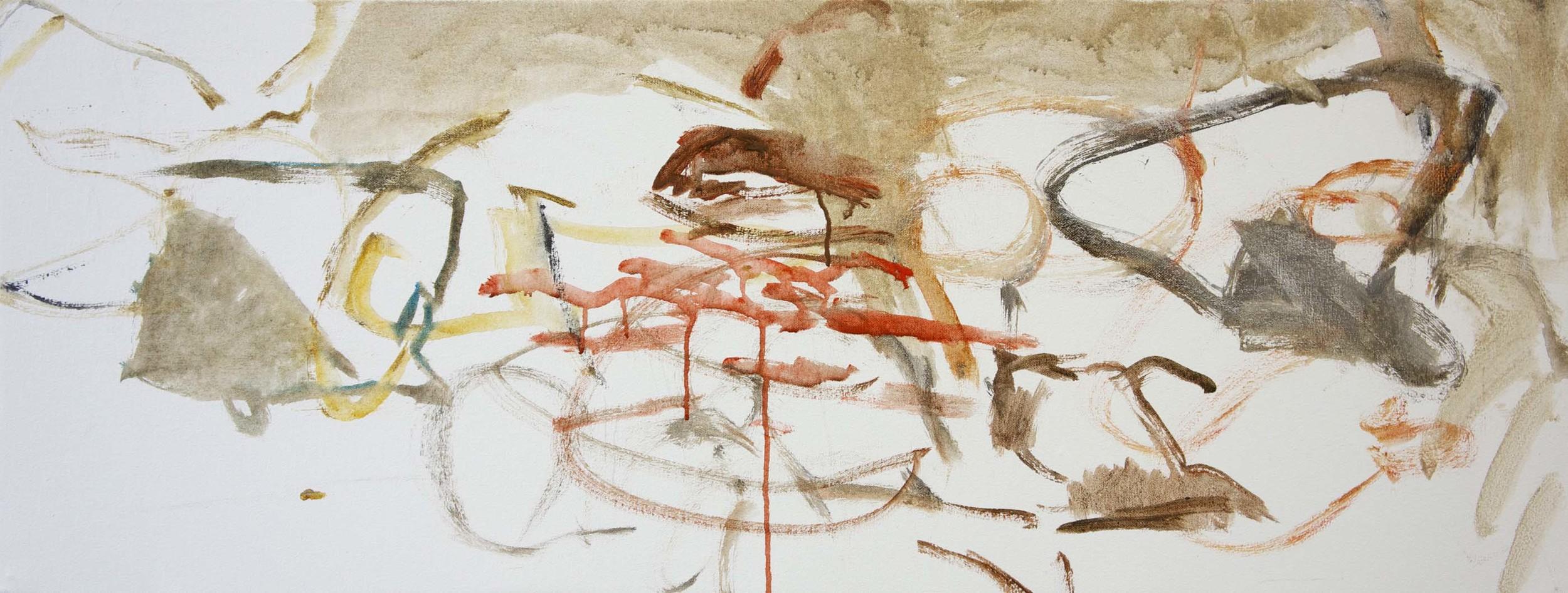 """kerber creek  18x48""""   a new painting begun 7/9/13"""