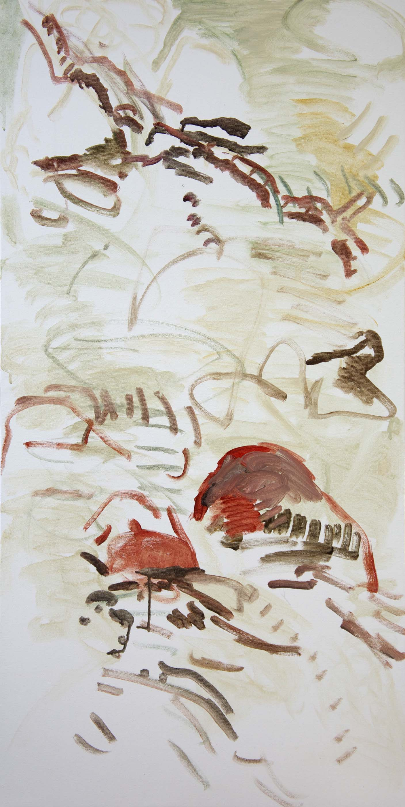 "DAY 1:  huan creek  48x24""  acrylic on canvas"