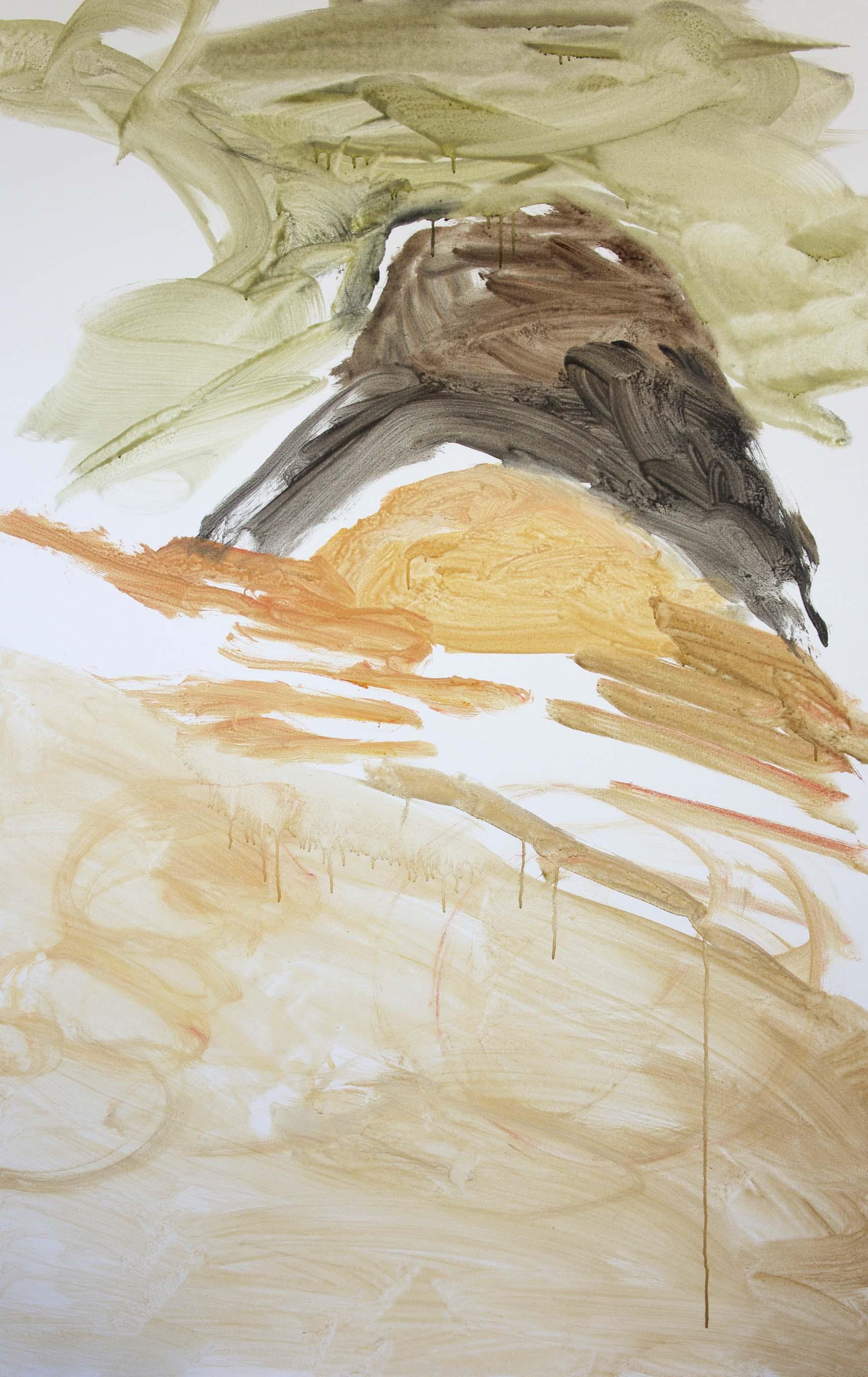 "DAY 1, STAGE 1: kai creek 78x48""  acrylic on canvas"