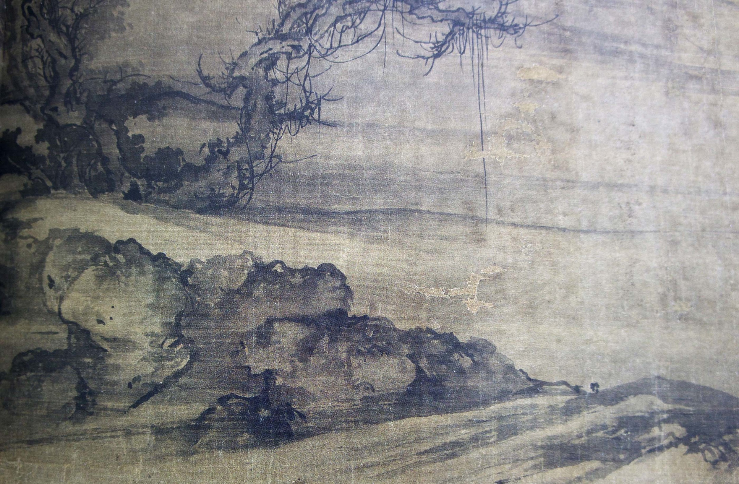 detail:guo xi   old trees, level distance