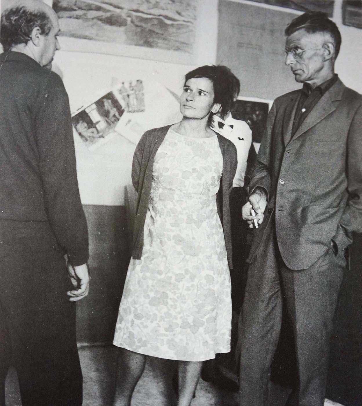 tsarouchis, christina tsingou & samuel beckett  photo: tarlow