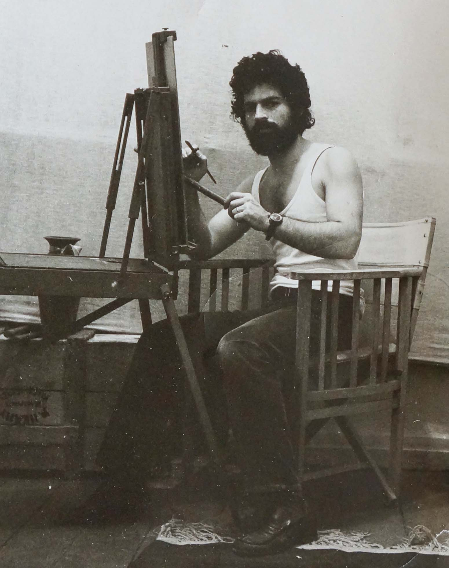 in my studio in the plaka, athens