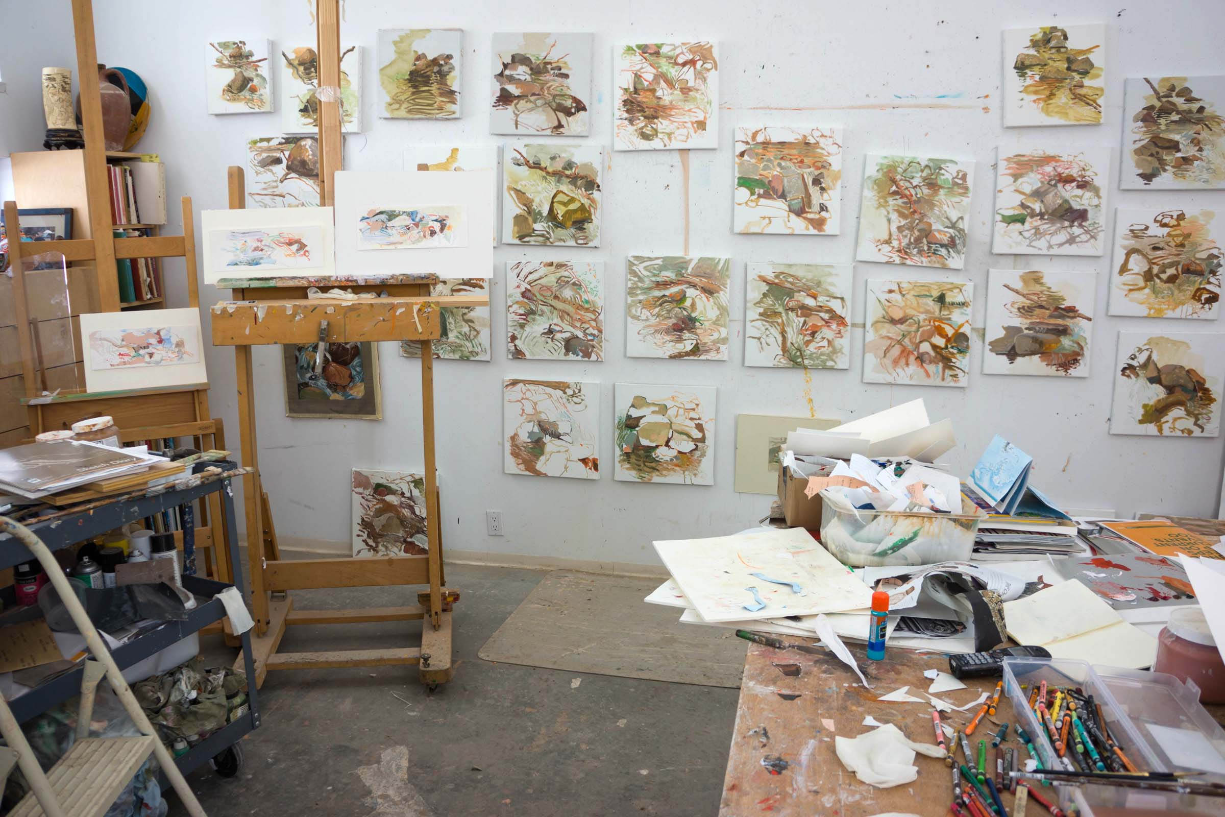 1/5/14 studio interior with new collages