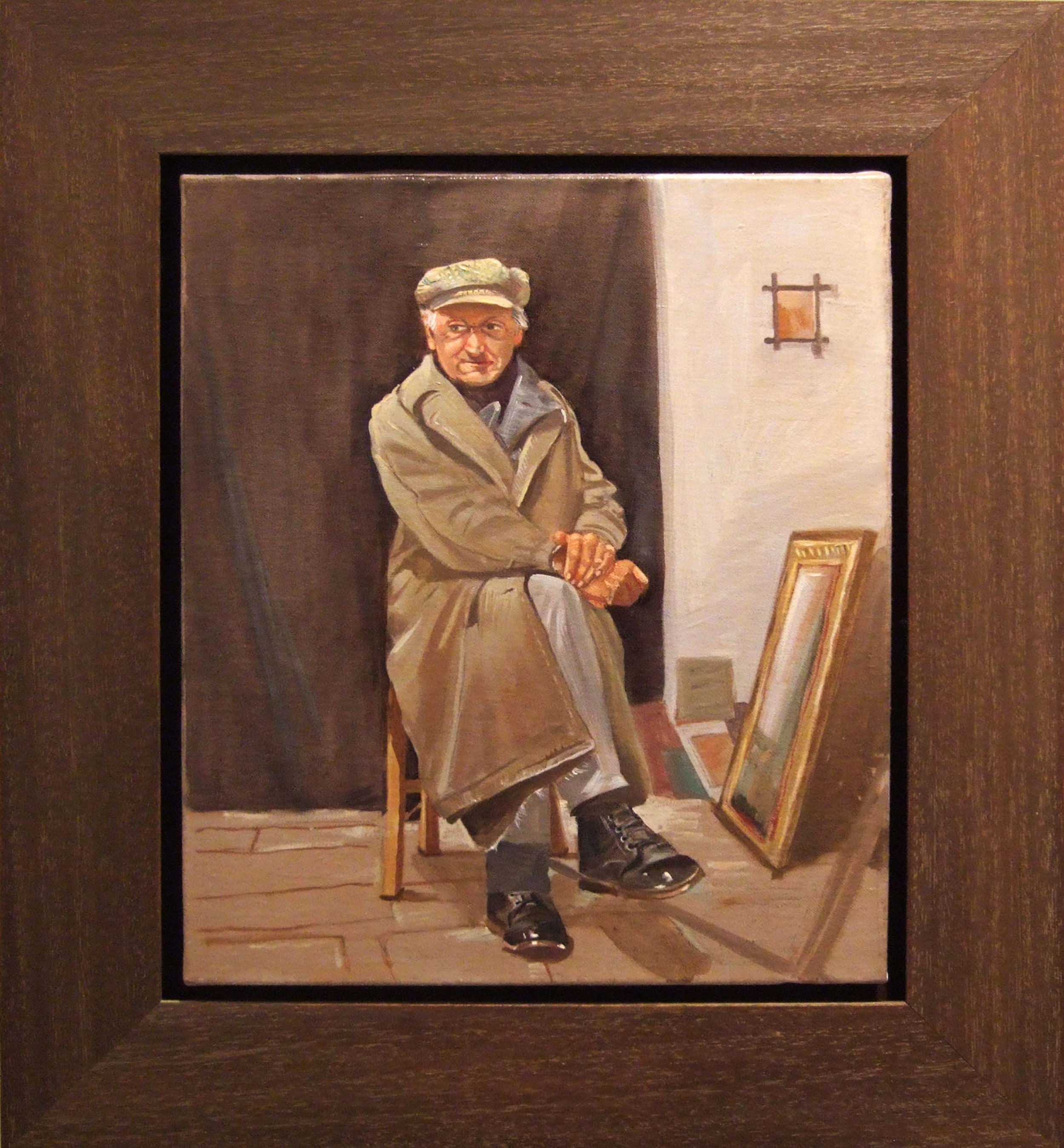 dignity  oil on linen ,  2006    this is a  painting of a penniless andriot who, despite his threadbare clothing, had the bearing of a prince and the soul of an angel.