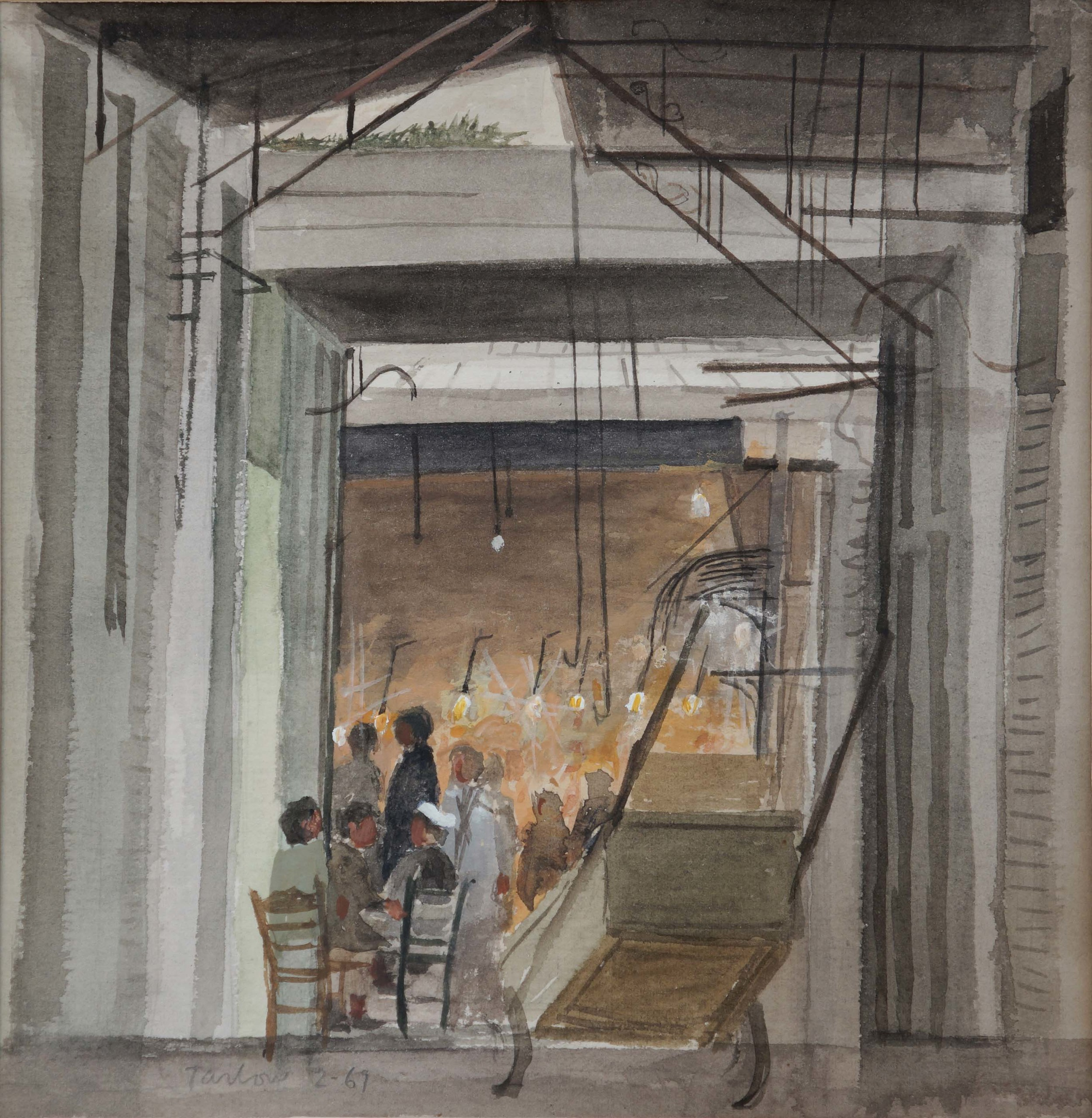 o teleftaios pastas  1969   watercolor
