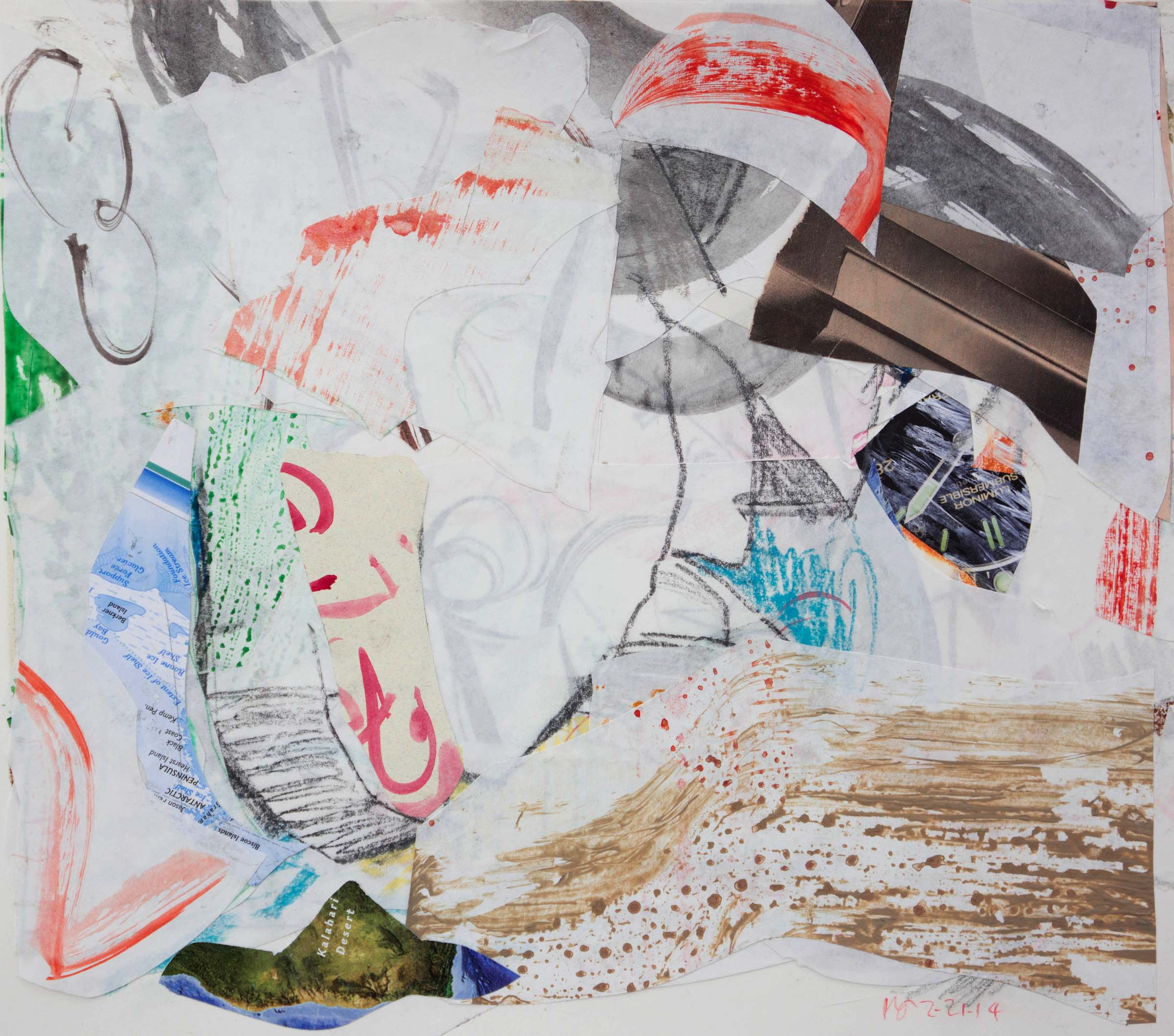 2/21/14 kalahari   collage-mixed media on paper
