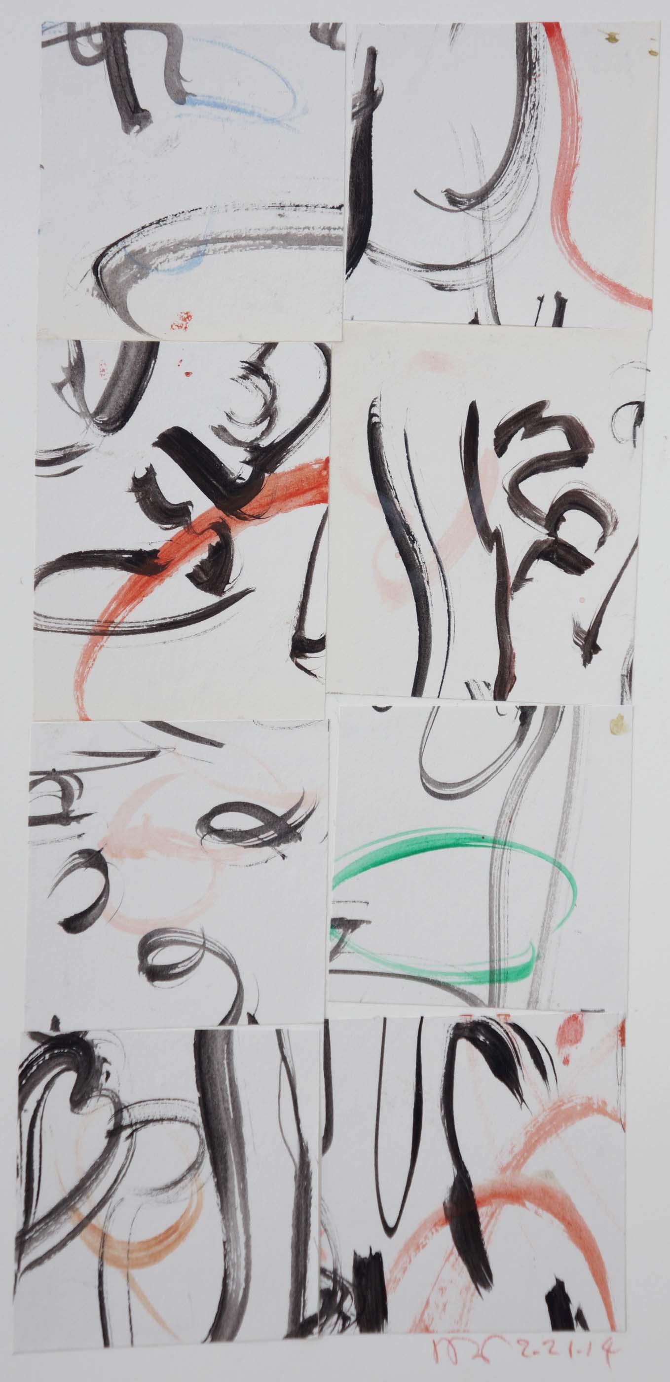 2/21/14 collage 2  21.5x10 cm.