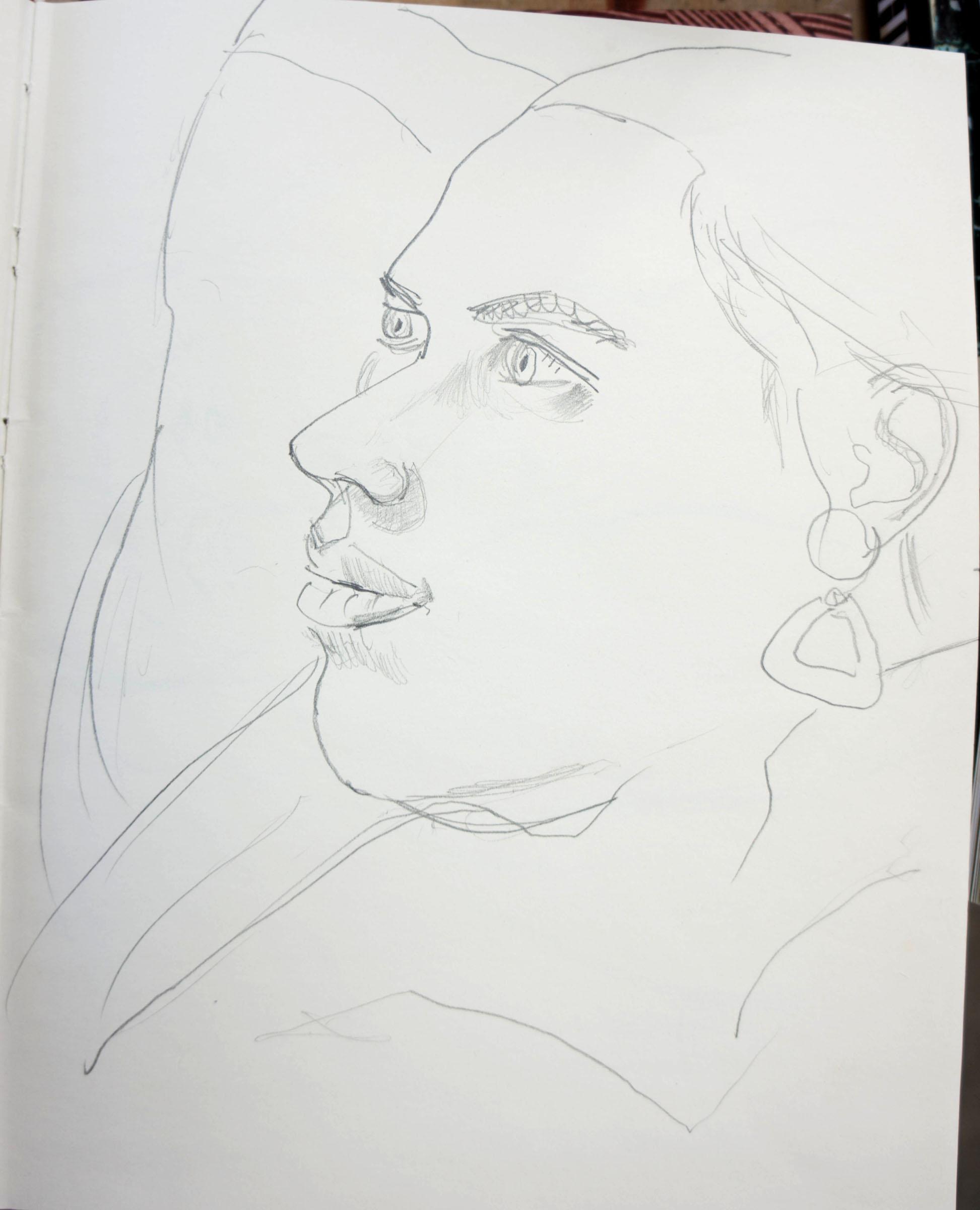drawing of mikela