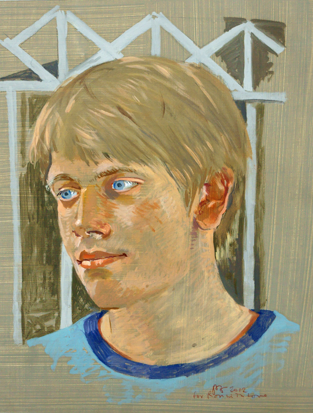 "portrait of c.g.  15.5x10"" oil on linen"