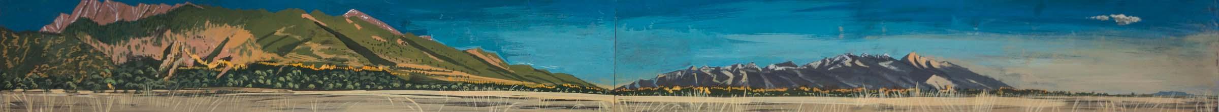 "san luis valley  6x66"" gouache on archival paper"