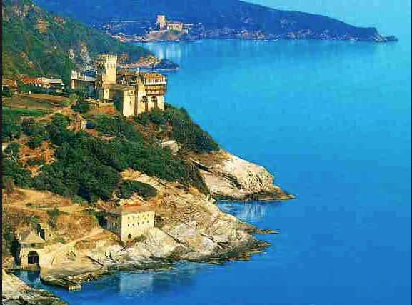 stavronikita monastery, mt. athos, greece