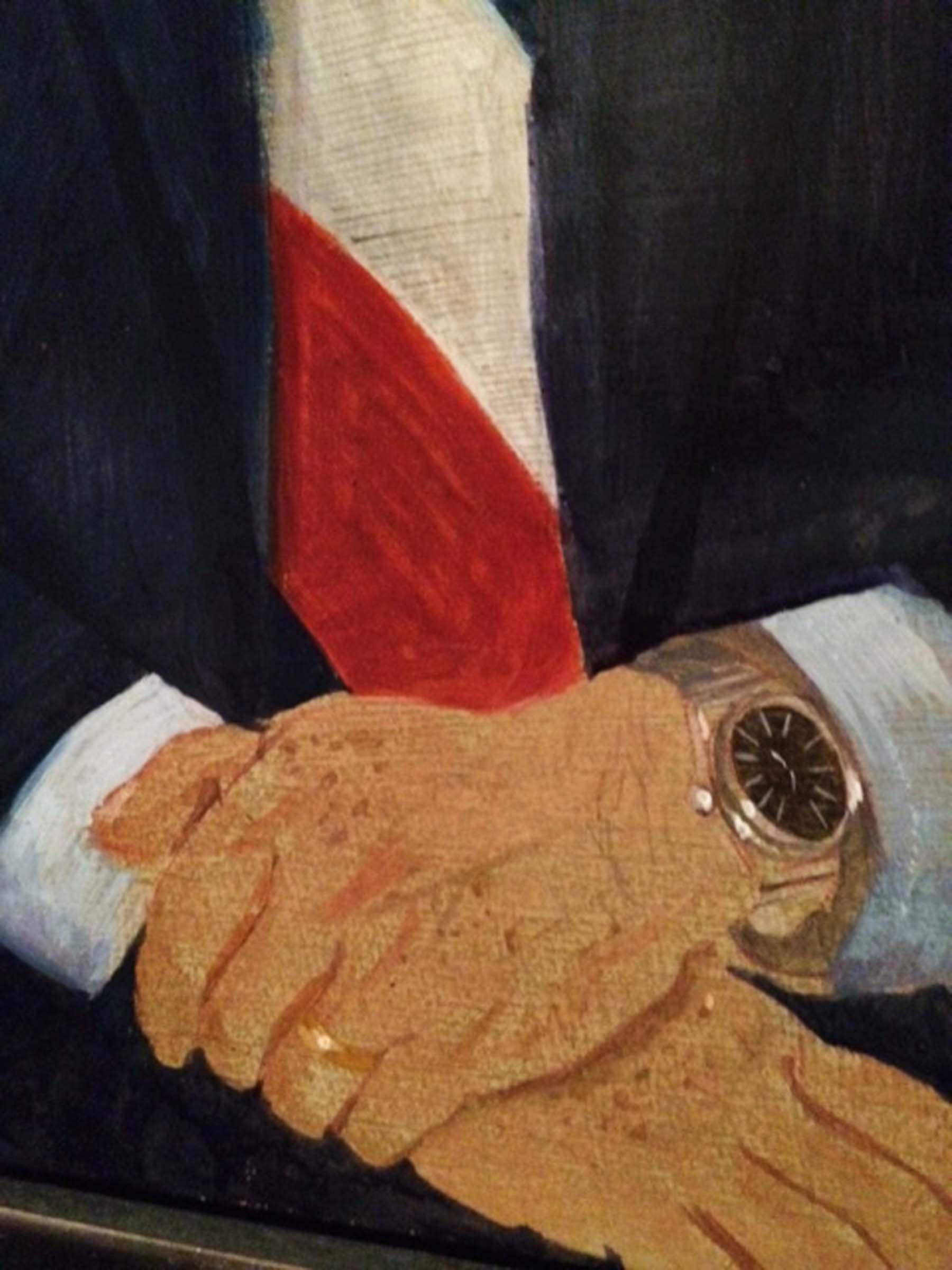 DETAIL: 1982 commissioned portrait