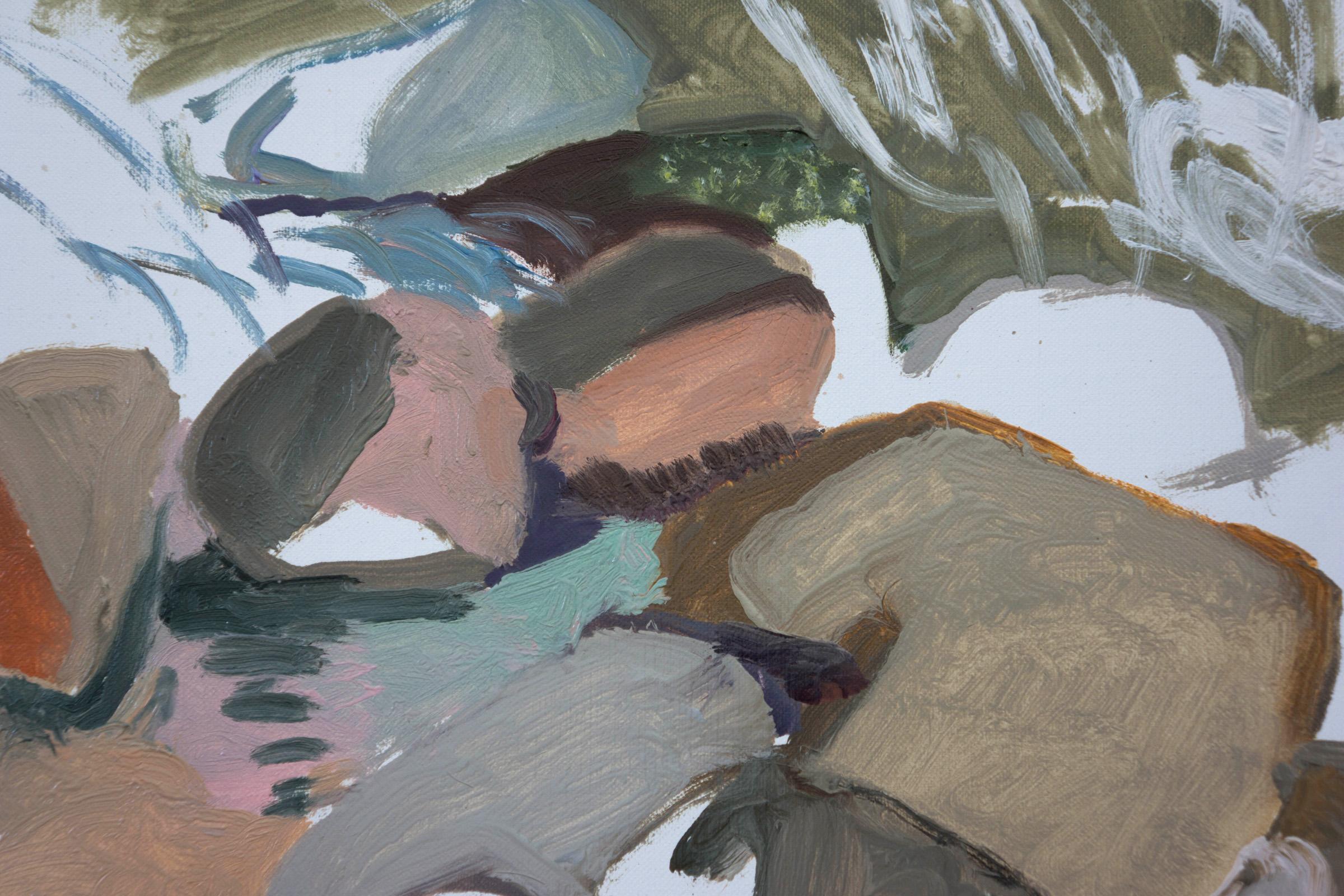 "DETAIL: 10/20/14 north crestone creek  16x16"" oil on portrait linen"