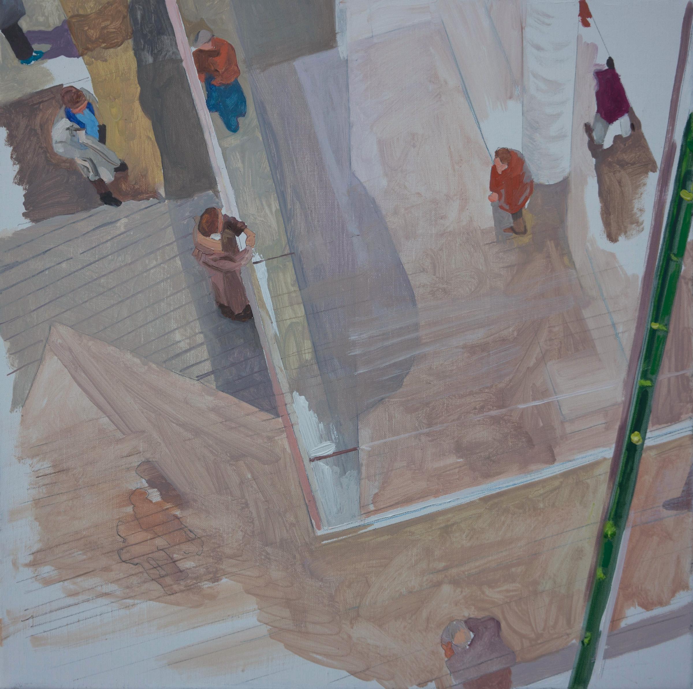 """parade 9 , 16x16"""" oil on portrait linen"""