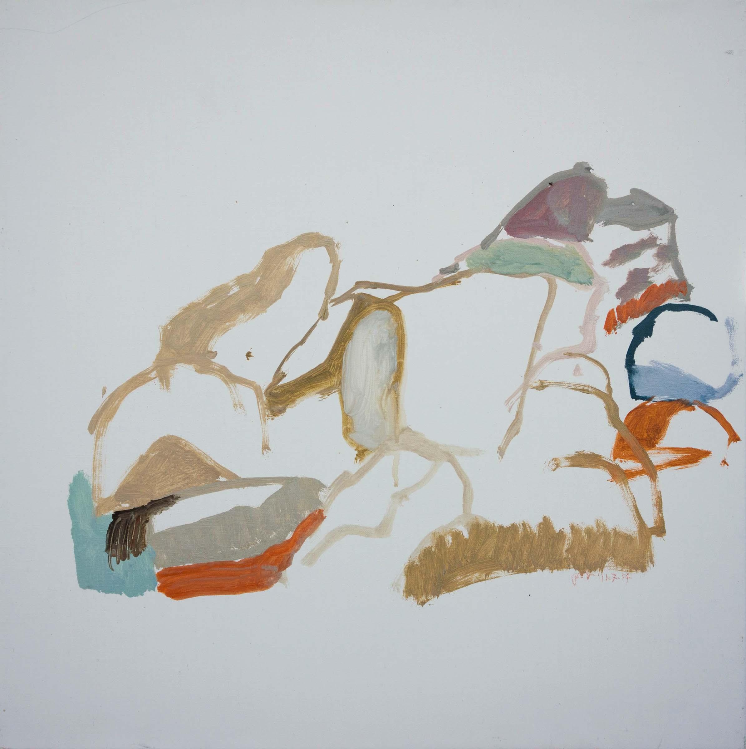 """11/7/14 north crestone creek  16x16"""" oil on portrait linen"""