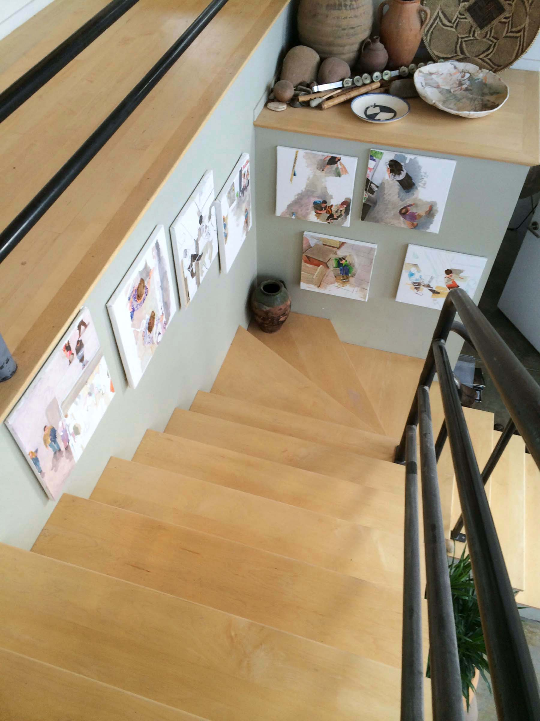 site-11-20-14 paintings on stairs 1.jpg