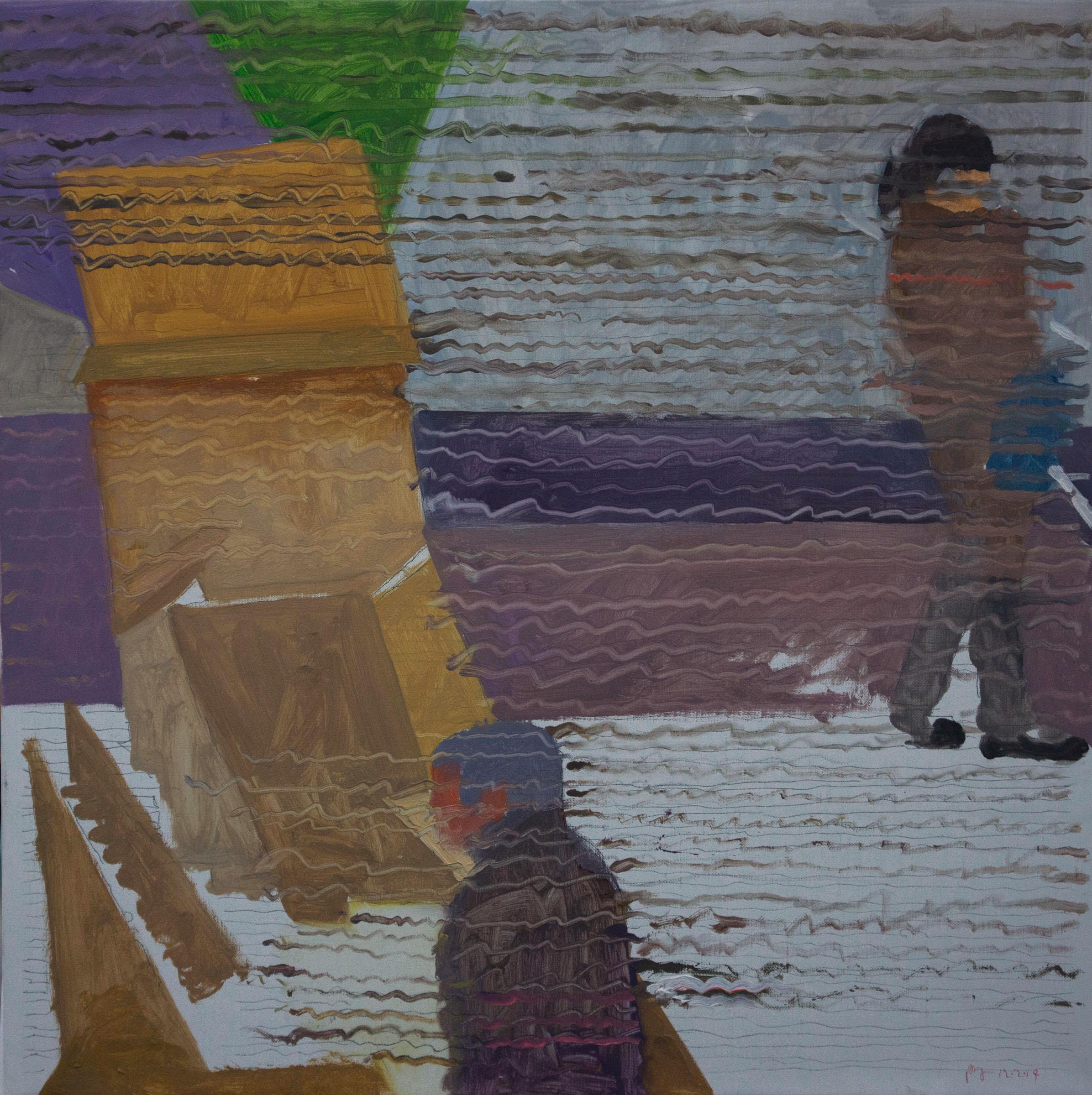 """parade 12 16x16"""" oil on portrait linen"""