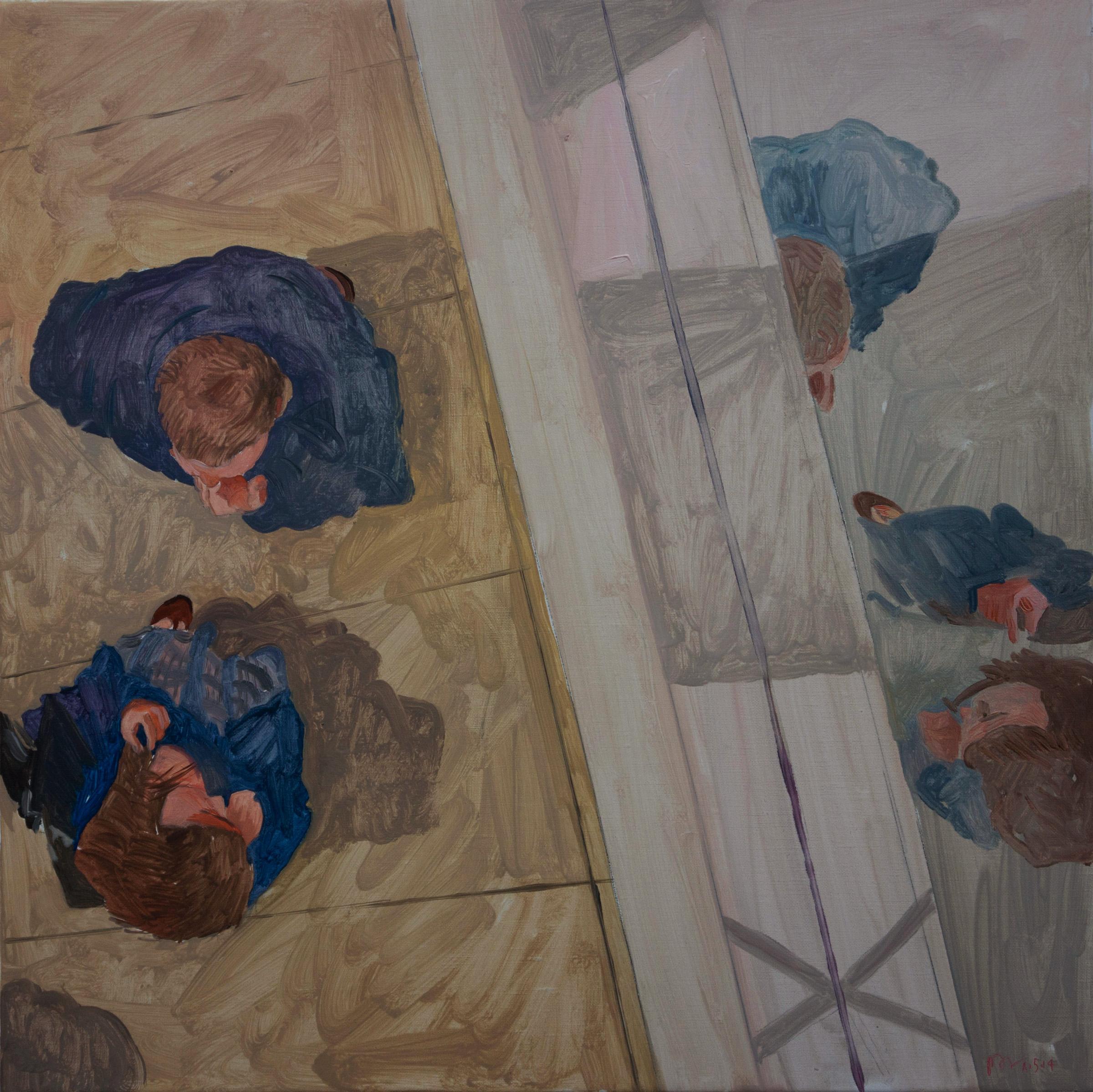 """parade 19 16x16"""" oil on portrait linen"""