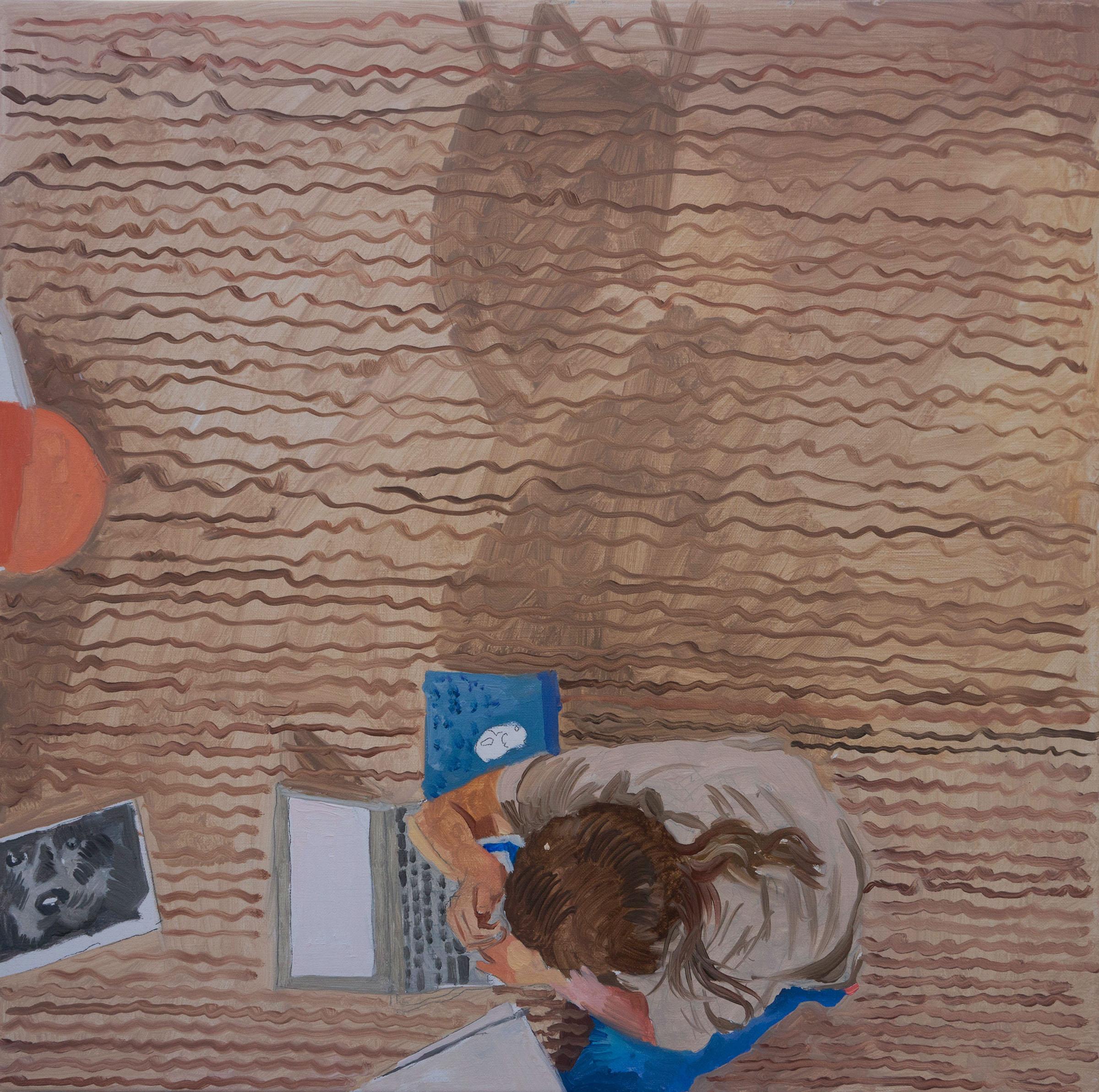 """parade 20 16x16"""" oil on portrait linen"""