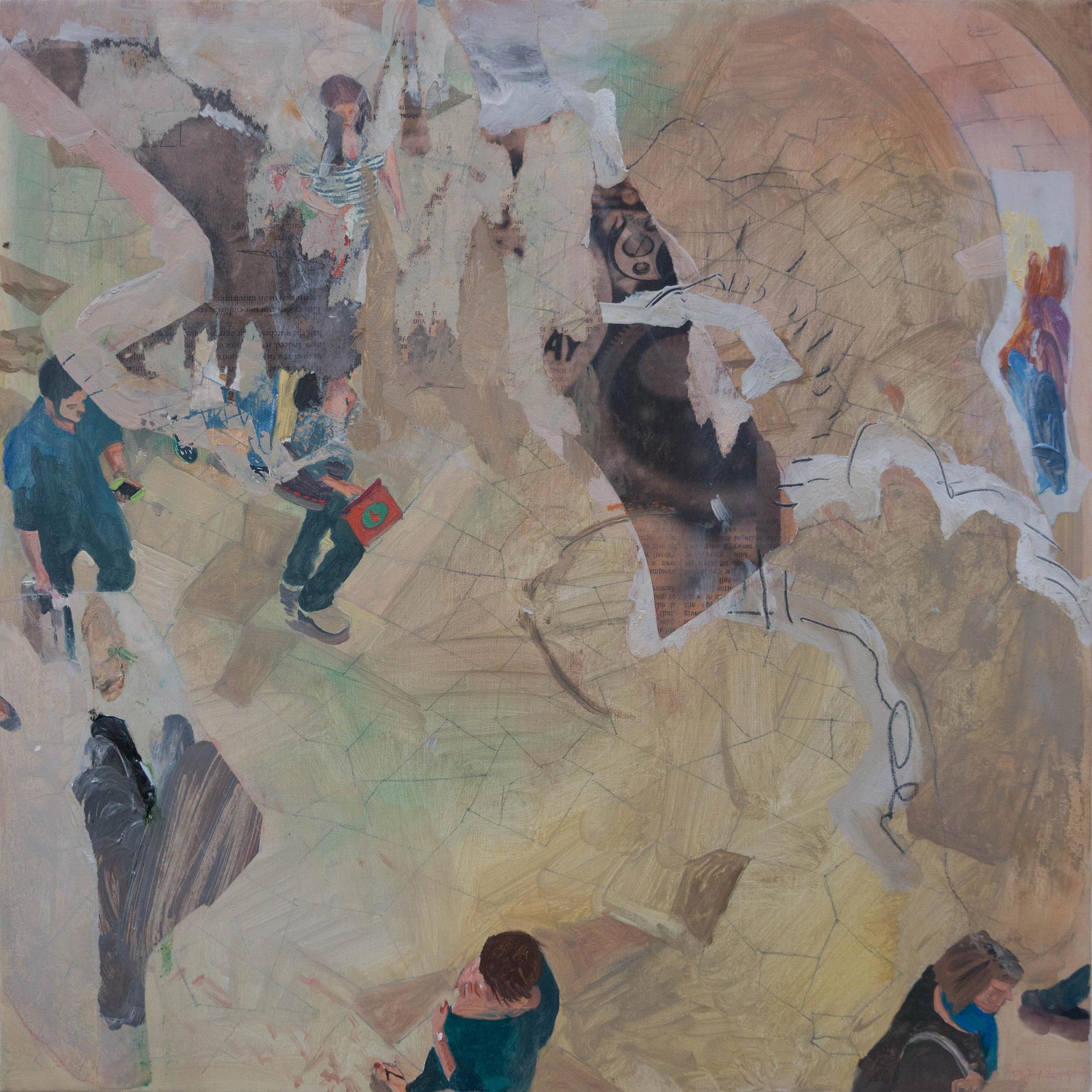 """parade 16  16x16"""" oil on portrait linen"""