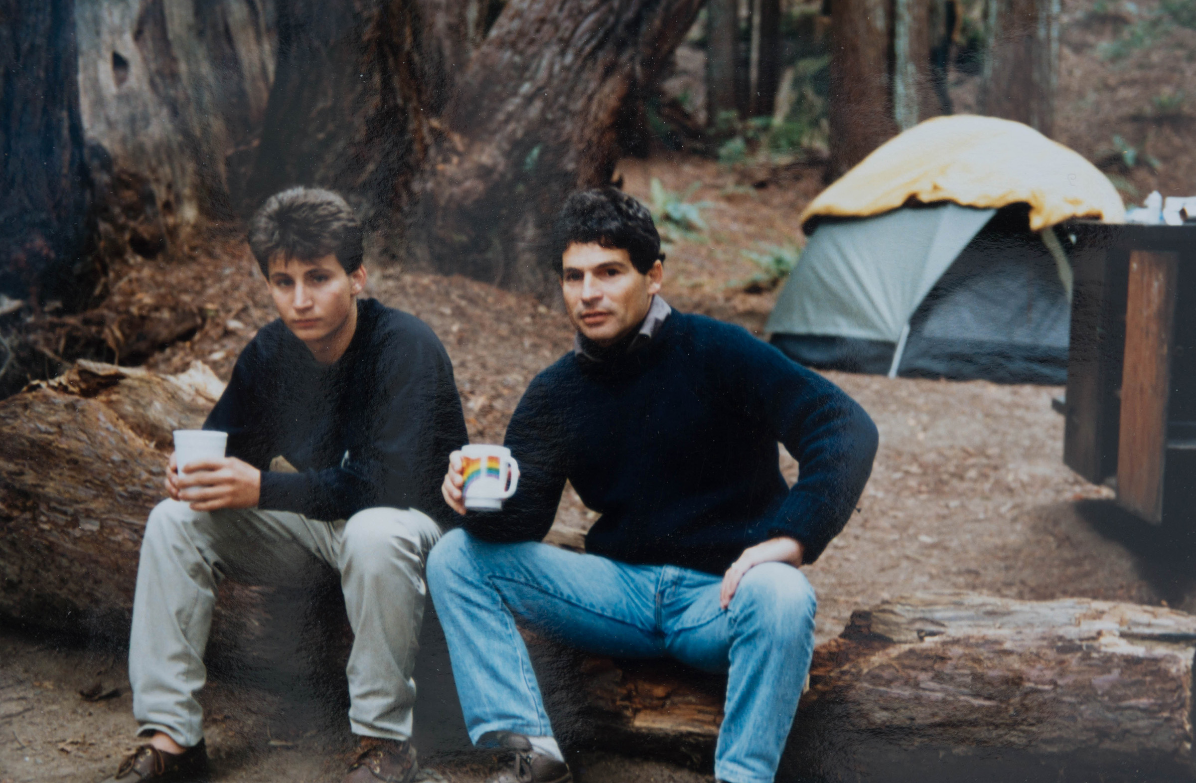 camping with dimitri in n. california in the '80's