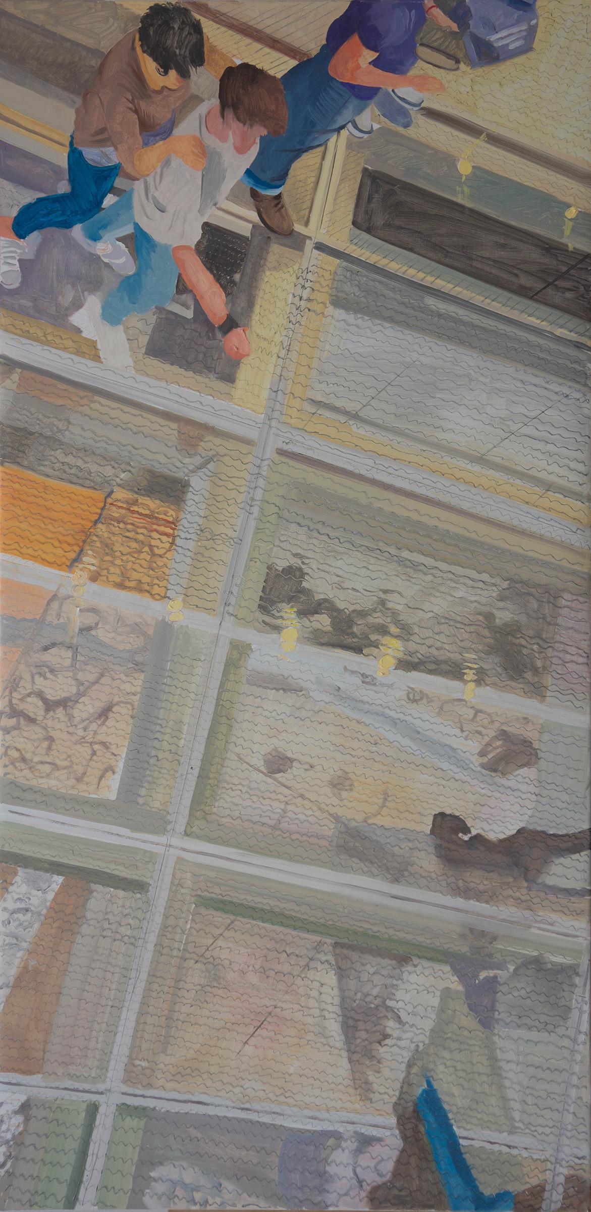 "ANO KATO 53  48x24"" oil on portrait linen"
