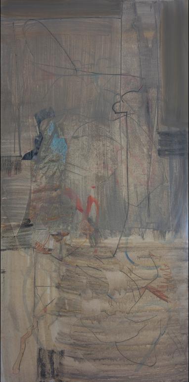 "grey 22015 48x24"" mixed media on canvas"