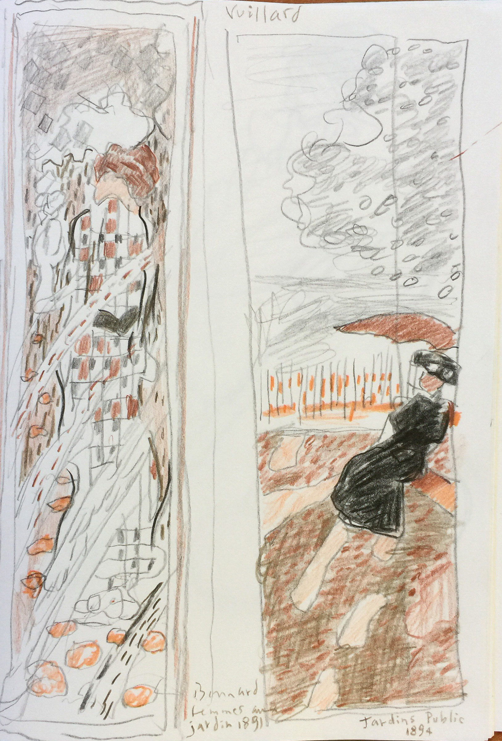 Study of Vuillard & Bonnard screens, Musée d'Orsay, Paris
