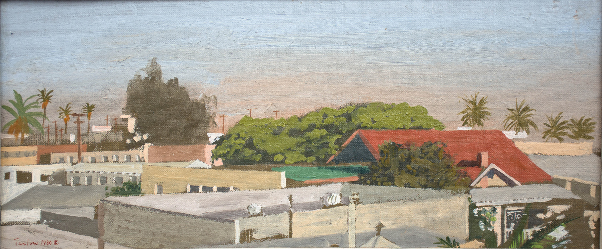 """santa monica  5 1/2 x 13"""" 1980 collection of the artist"""