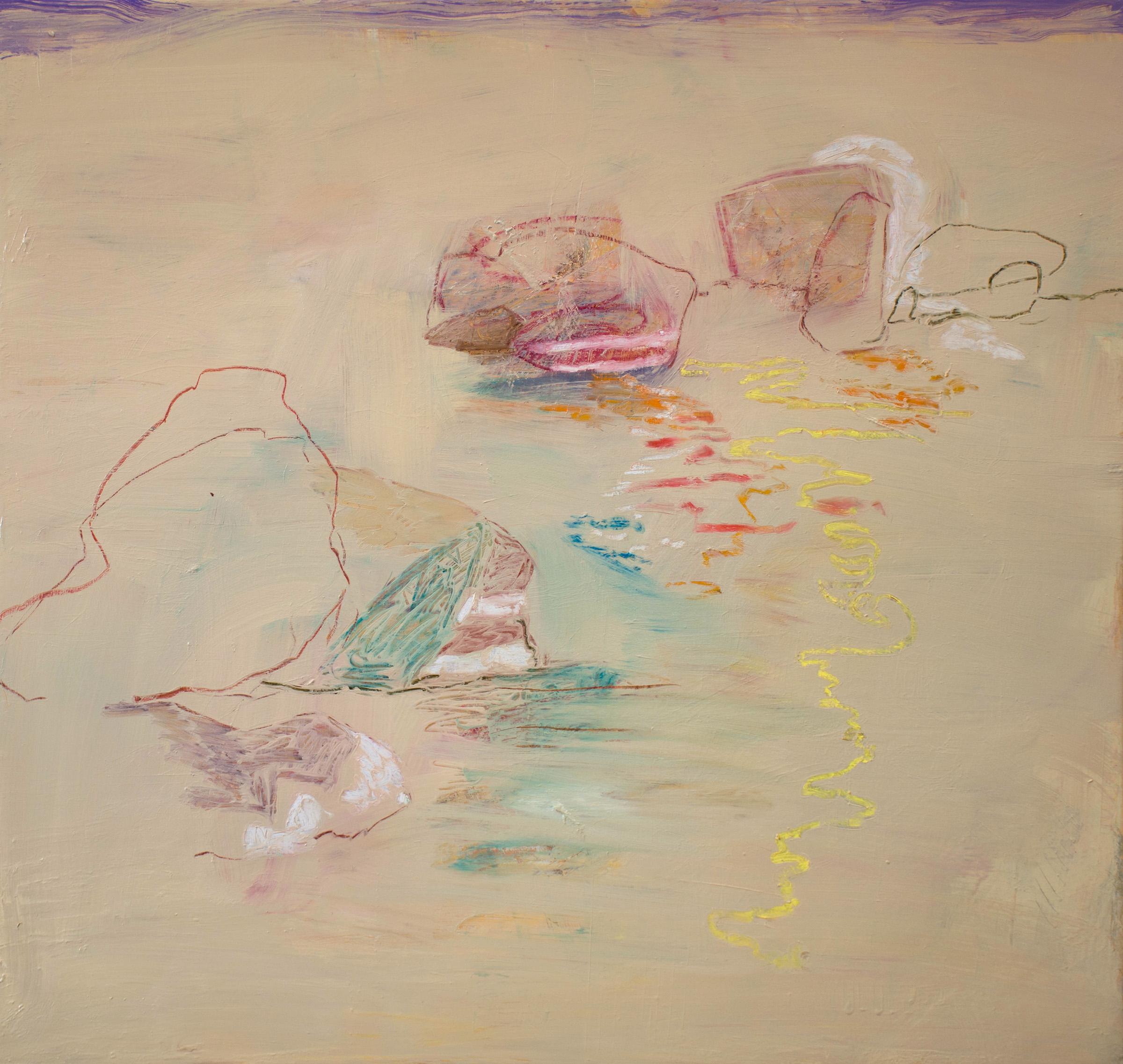 """motion 10   36x38""""  oil & oil pastel on linen, 2018-19"""
