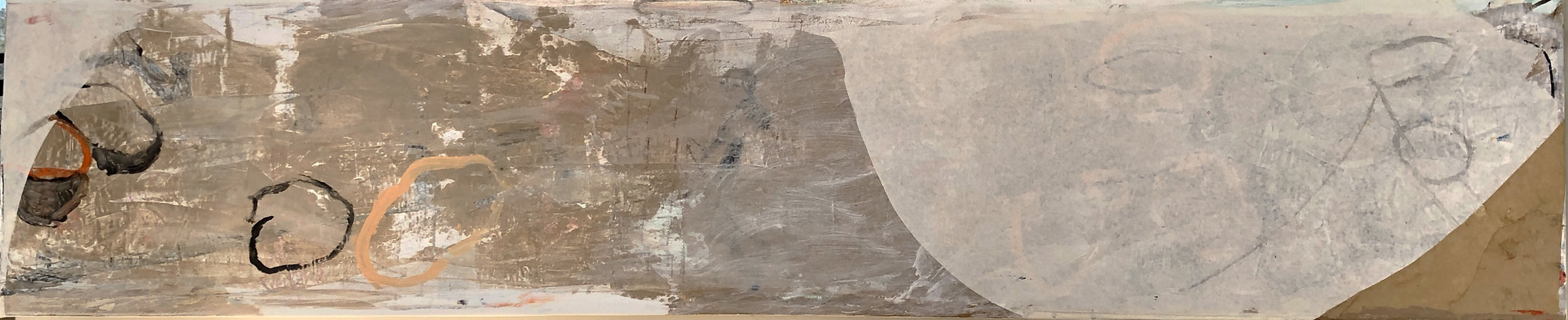 """2014 collage, 20 x 78"""" collection of the artist"""