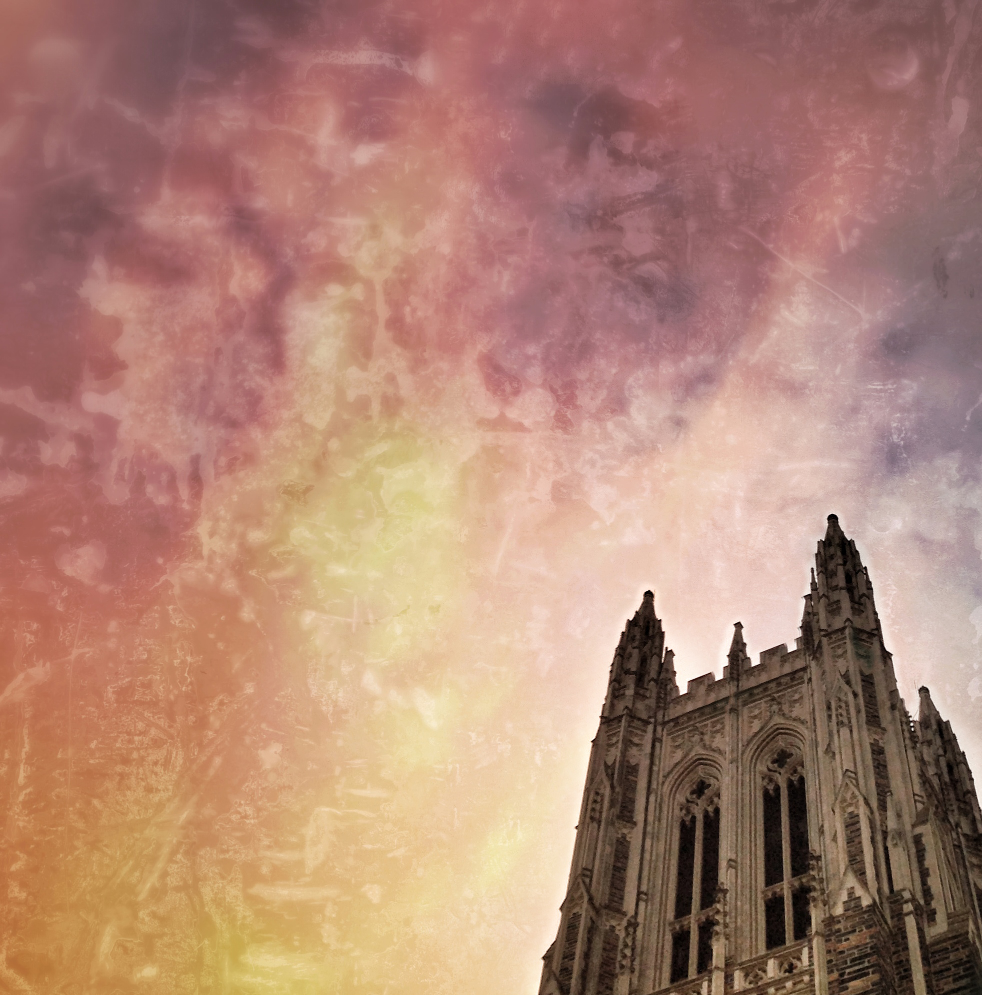 Sunset, Duke University Chapel