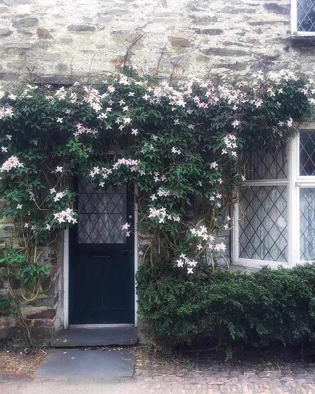 """No vines should ever grow on a house, even with a trellis,"" said the home inspector last fall. I thought of this snap I'd taken in England earlier in the year, and I rolled my eyes. Fortunately my home's new owner rolled her eyes too, and the trellis stayed. If English cottage gardens are wrong, I don't want to be right."