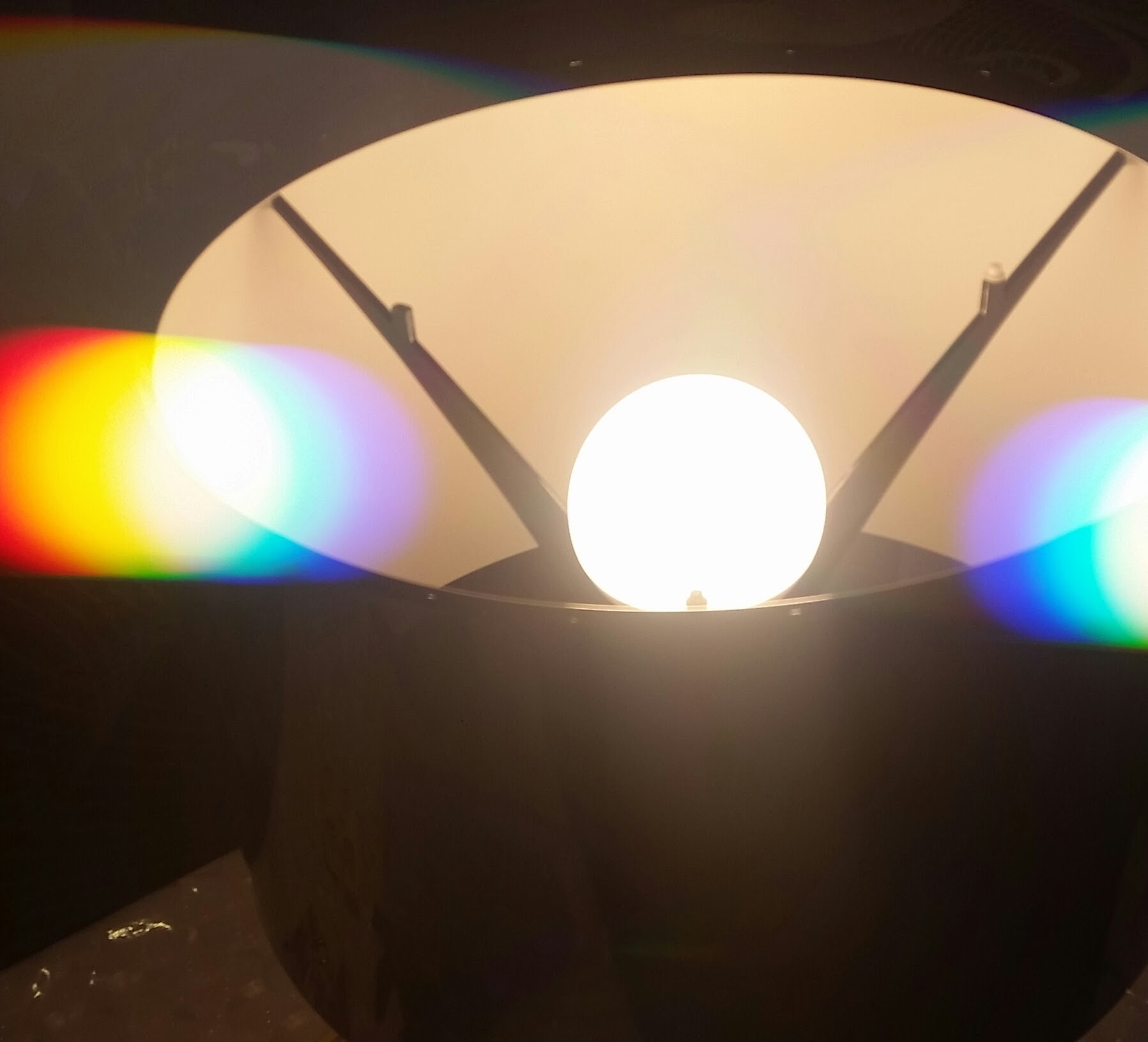 Diffraction filters split the colour in a light globe