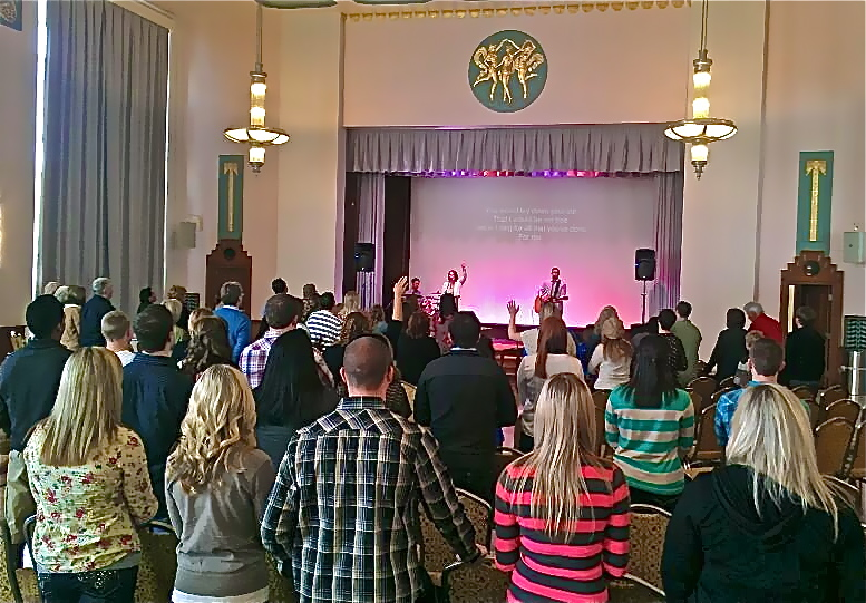 Our first Sunday Morning Worship Service at the Civic Center