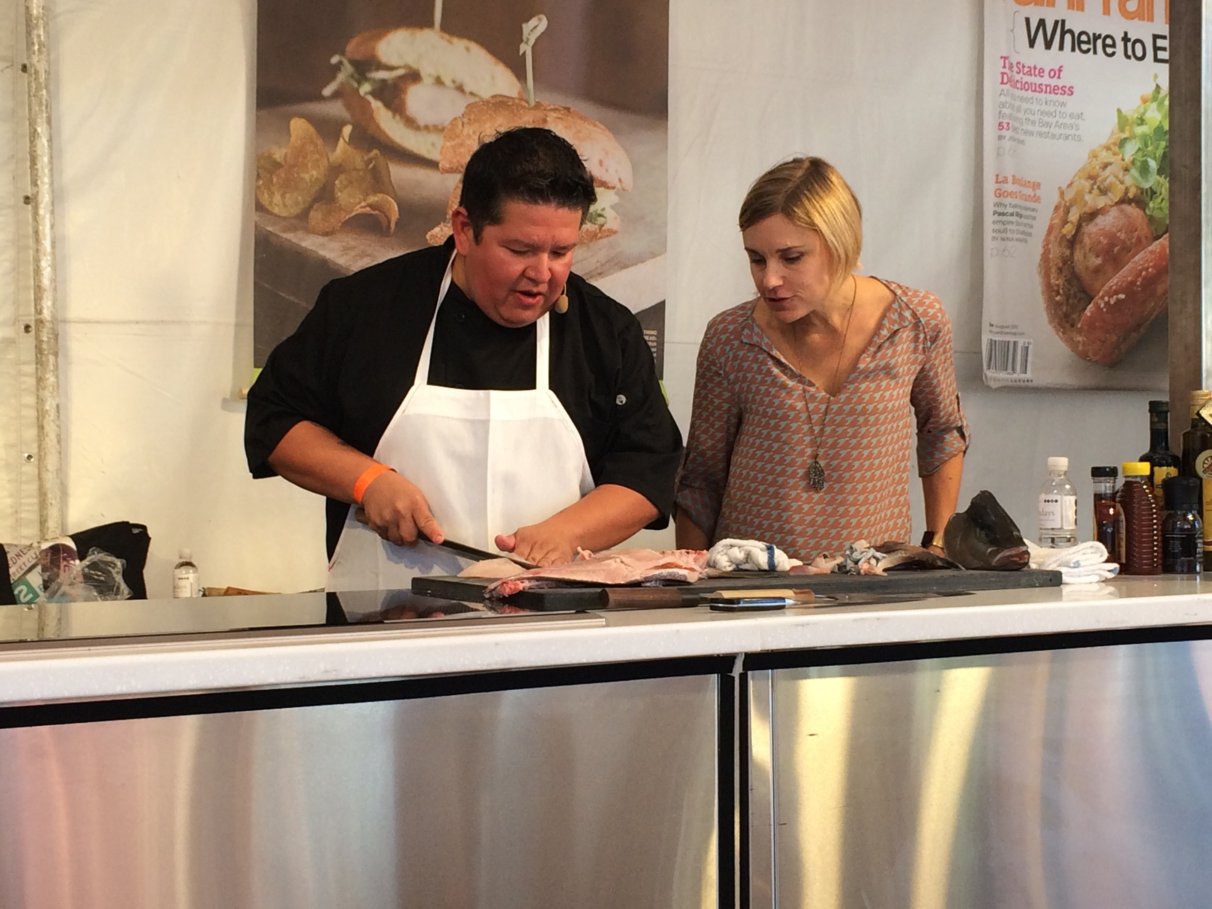 Chef Tim — San Francisco's Top Chefs Demonstration: Kona Kampachi Butchery and Sashimi, at  San Francisco   magazine's FallFest